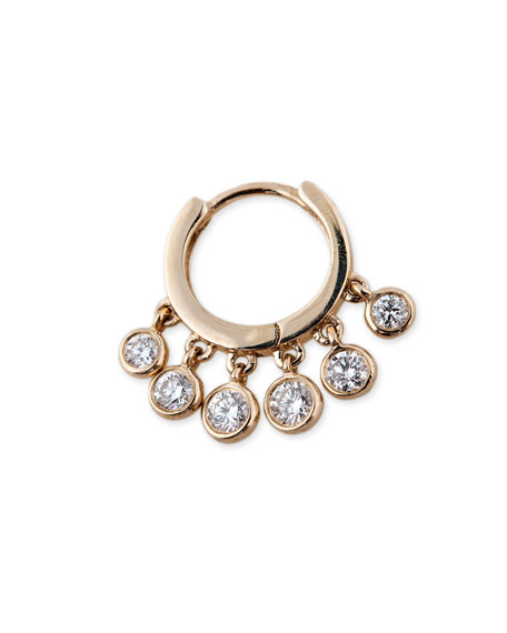 Jacquie Aiche Single Shaker Diamond Hoop Earring in