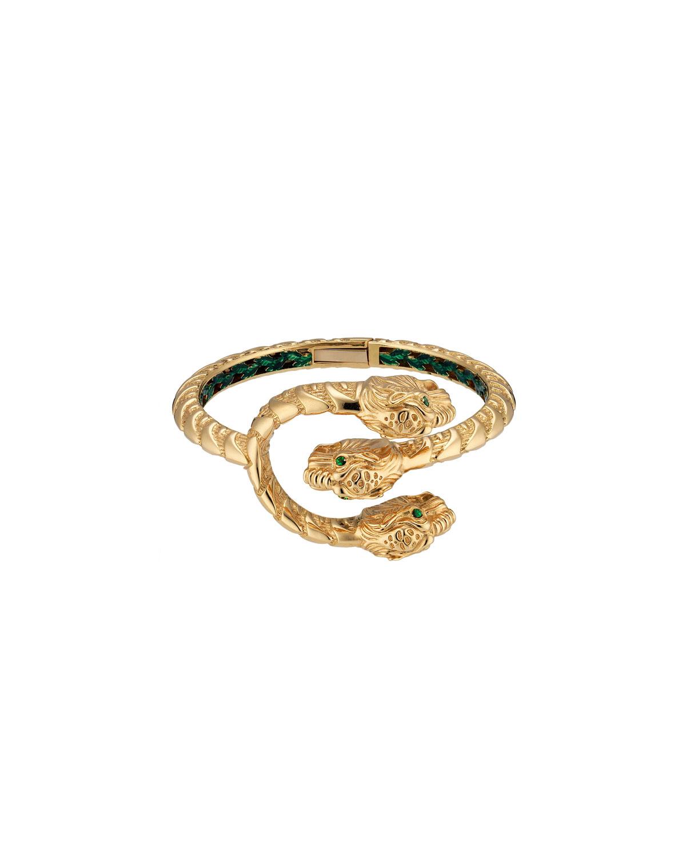 3c483edcccf Gucci Dionysus Cuff Bracelet with Tsavorites