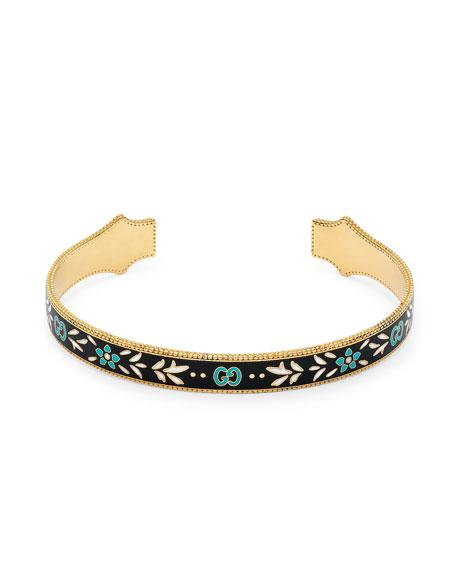 Icon 18K Enamel Cuff Bracelet