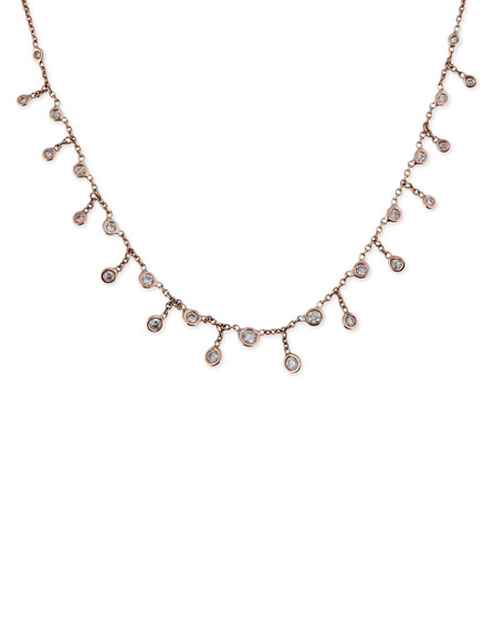 Jacquie Aiche Shaker 14kt rose gold and diamond necklace dIZMQO