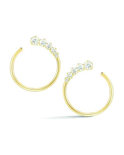 Prive Diamond Hoop Earrings in 18K Gold