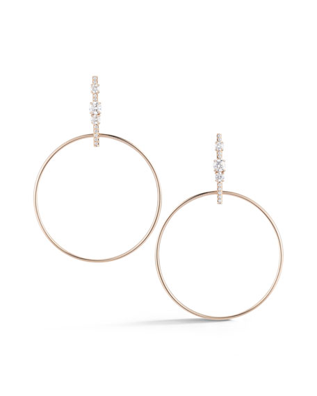 Jemma Wynne Prive Diamond Bar Hoop Earrings ncrJJW