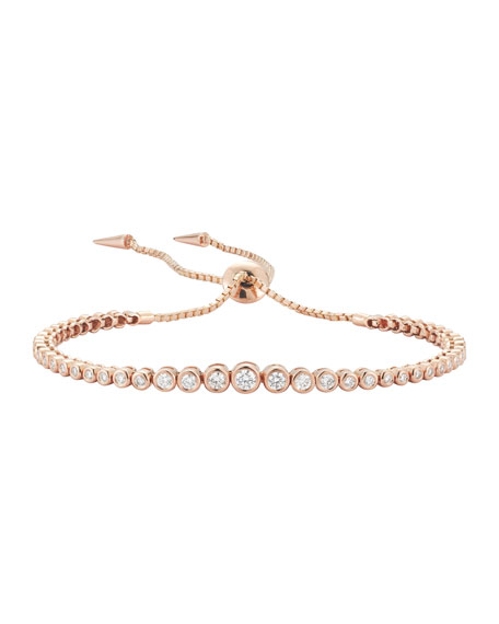 Prive Diamond Slider Bracelet in 18K Rose Gold
