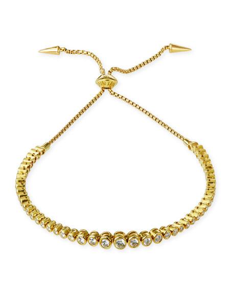 Prive Luxe Diamond Bezel Bracelet in 18K Gold