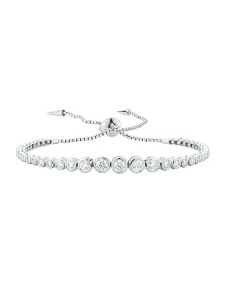 Prive Luxe Diamond Bezel Bracelet in 18K White Gold