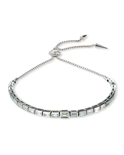 Prive Luxe Diamond Baguette Slider Bracelet