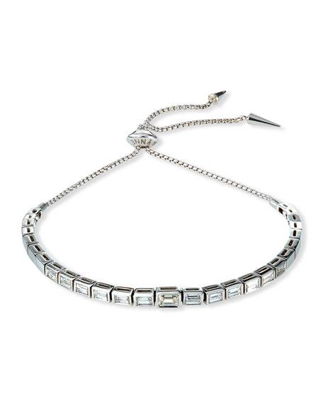 Prive Luxe Diamond Baguette Slider Bracelet