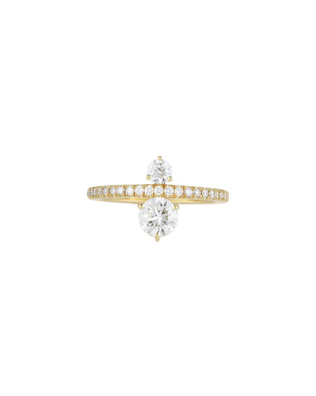 Prive Diamond Ring in 18K Gold, Size 6