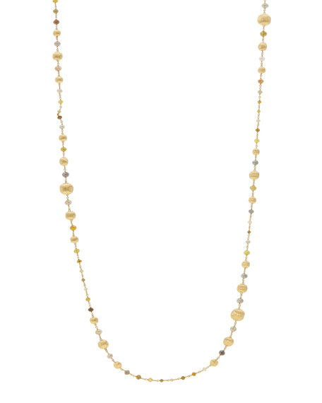 """Unico Africa Beaded Necklace with Rough Diamonds, 36"""" (34ct)"""