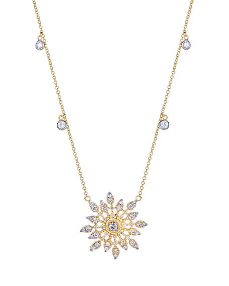 Celestial Diamond Pendant Necklace in 18K Gold