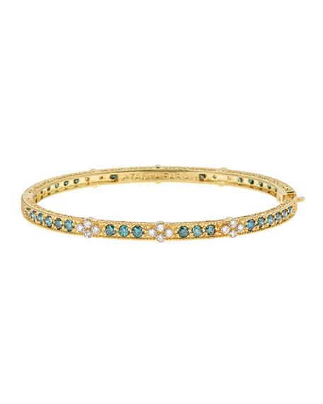 Modern Etruscan Bangle Bracelet
