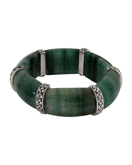 Green Aventurine Cushion Stretch Bracelet