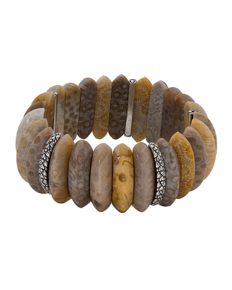 Fossil Coral Marquise Stretch Bracelet