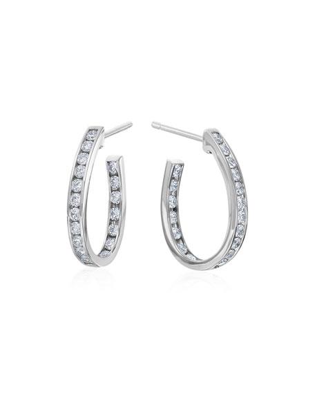 Channel-Set Diamond Hoop Earrings