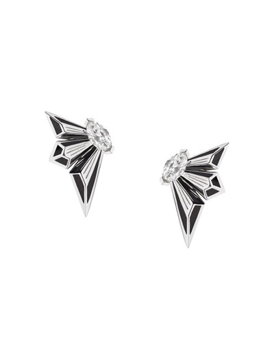 Fly by Deco Drive 18k Diamond Stud Earrings