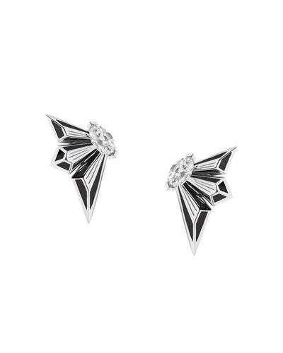 Fly by Night 18k Diamond Stud Earrings