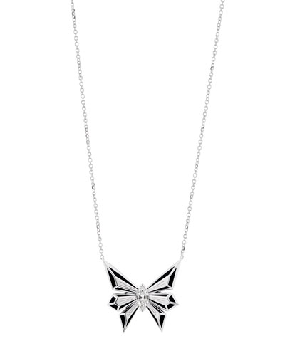Fly by Deco Drive 18k Diamond Pendant Necklace