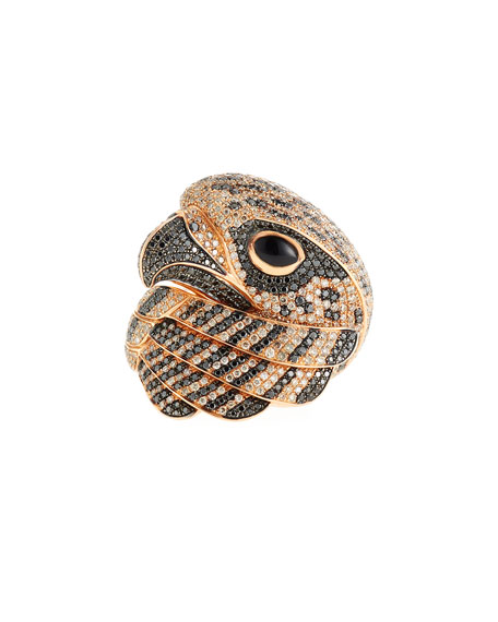 Roberto Coin 18k Coiled Diamond Falcon Ring, Size