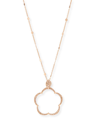 Ton Jolie Diamond Floral Pendant Necklace in 18k Rose Gold