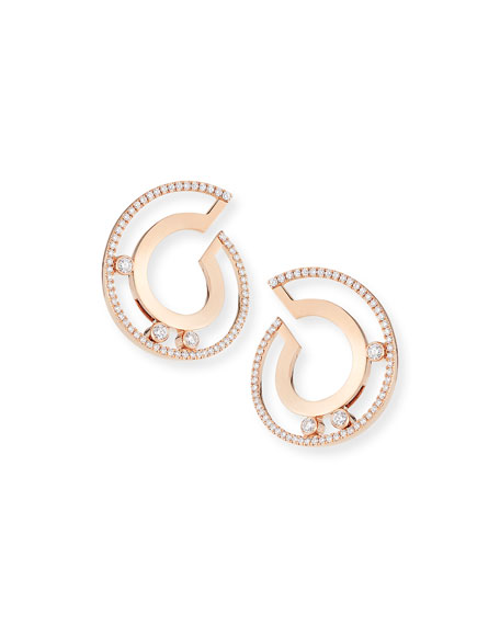 Messika 18k Move Roman Small Diamond Hoop Earrings