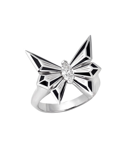Fly by Deco Drive Marquis Diamond Ring, Size 8