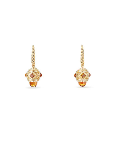 18k Renaissance Citrine Drop Earrings