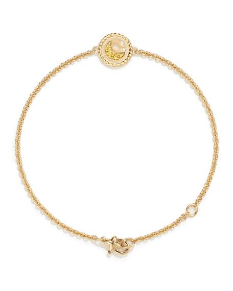 18k Cable Collectibles Pave Moon & Stars Bracelet