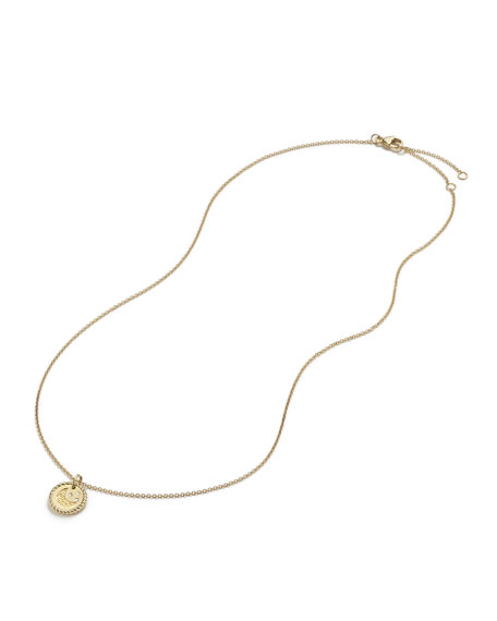 18k Cable Collectible Moon & Star Pendant Necklace