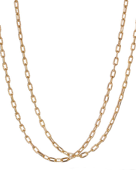 """18k Madison Thin Chain Link Necklace, 18""""L"""