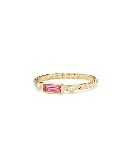 Novella 18k Baguette Tourmaline Stack Ring, Size 7
