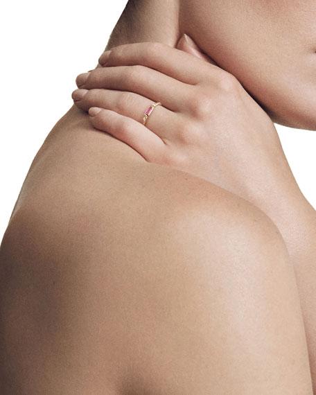 Novella 18k Baguette Tourmaline Stack Ring, Size 6