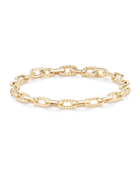 18k Madison Bold Chain Link Bracelet, Size Medium