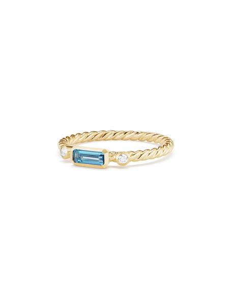 Novella 18k Baguette Topaz Stack Ring, Size 6