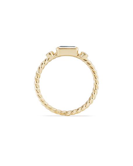 Novella 18k Baguette Topaz Stack Ring, Size 7