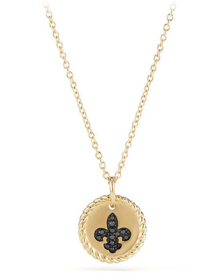 18k Cable Collectible Fleur de Lis Necklace
