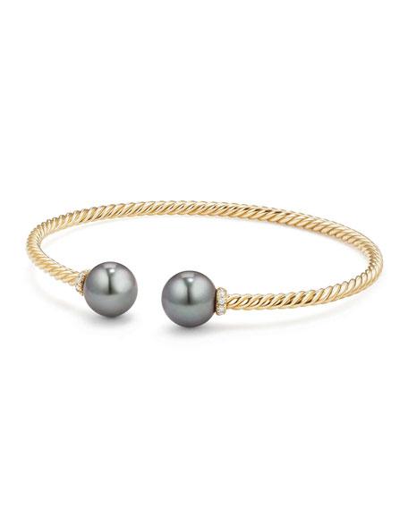 Solari 18k Tahitian Pearl & Diamond Bracelet, Size M