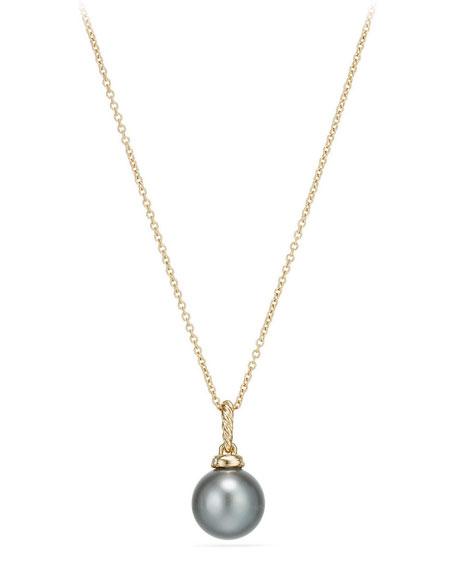 Solari 18k Pearl Pendant Necklace w/ Diamonds