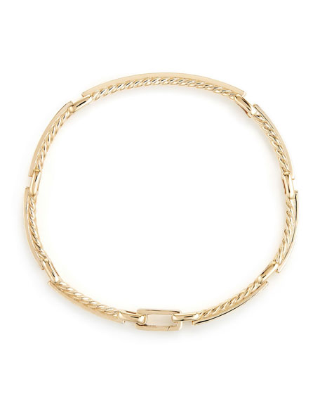 Petite Pave Diamond Link Bracelet in 18k Yellow Gold, Size Large