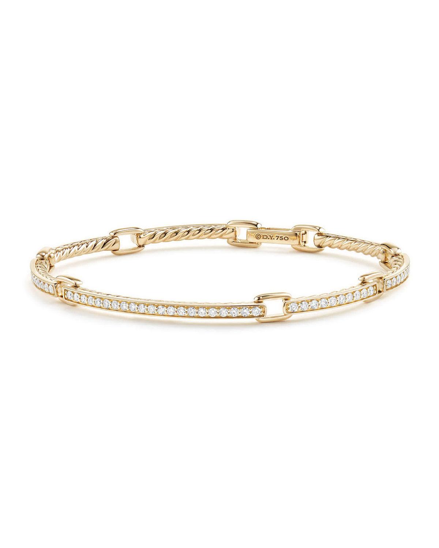 e1b12af0f929 ... pave diamond link bracelet in 18k yellow gold size large ...