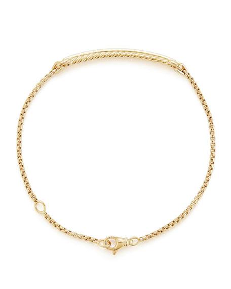 Petite Pave Diamond Station Bracelet in 18k Yellow Gold