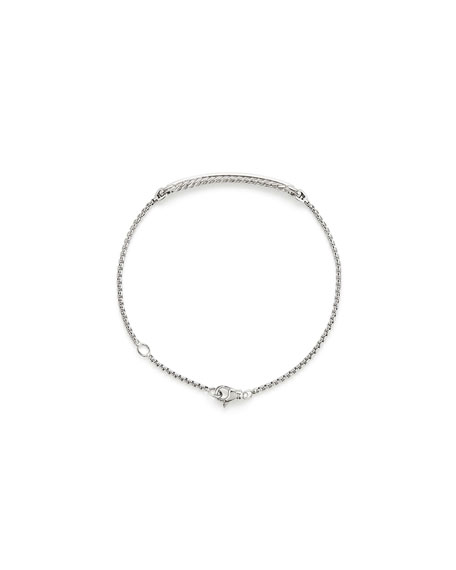 Petite Pave Diamond Station Bracelet in 18k White Gold