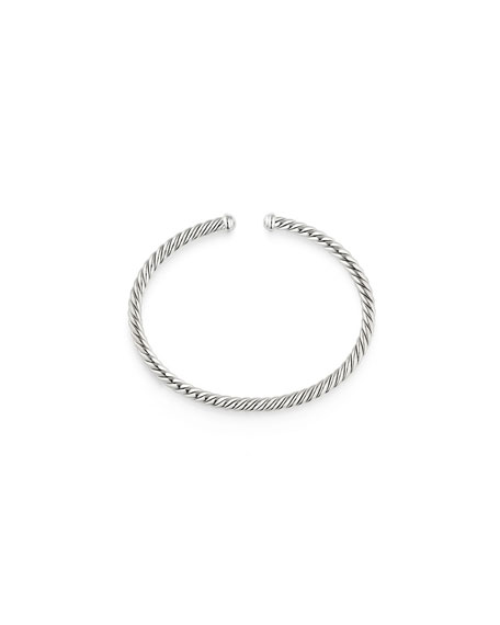 4mm CableSpira Bracelet in 18k White Gold