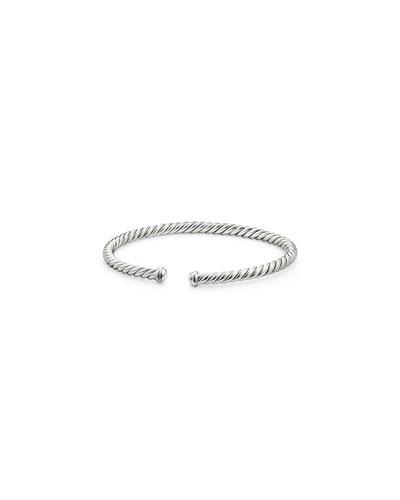 4mm Cable Spira Bracelet in 18k White Gold