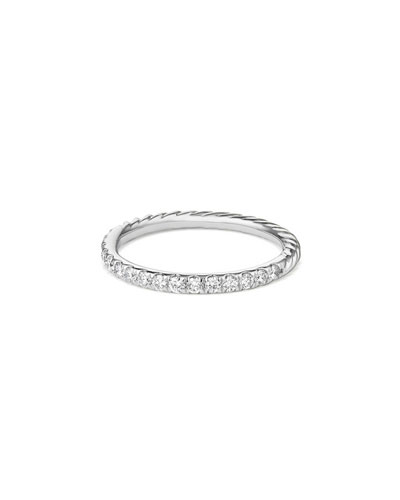Cable Collectibles Pavé Diamond Band Ring in 18K White Gold, Size 6
