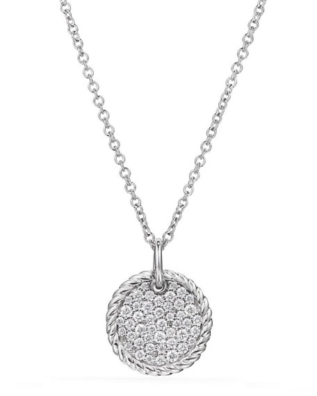 18k Cable Collectibles Diamond Plate Pendant Necklace