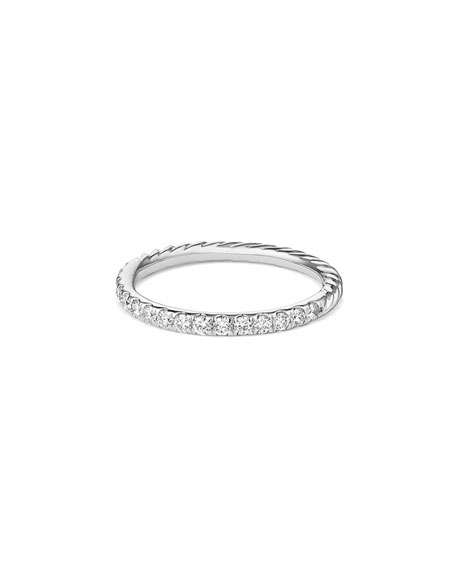 Cable Collectibles Pavé Diamond Band Ring in 18K White Gold, Size 8