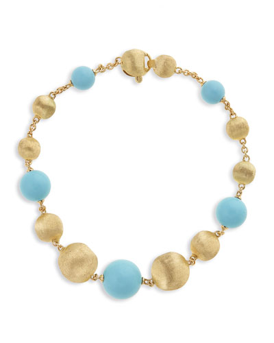 18k Africa Turquoise Bracelet