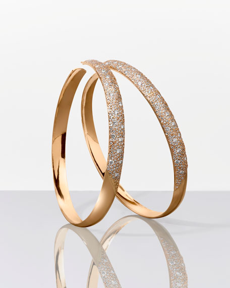 14k Cluster Diamond Hoop Earrings