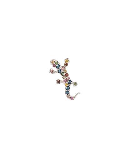 14k Rainbow Salamander Single Stud Earring