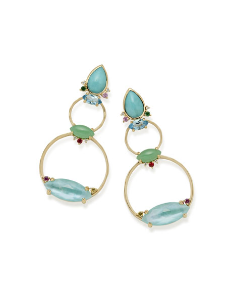 Ippolita Prisma Front-Facing Hoop Earrings in Portofino iqF32wKPm